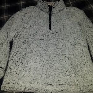Vs pink sherpa small frosted grey